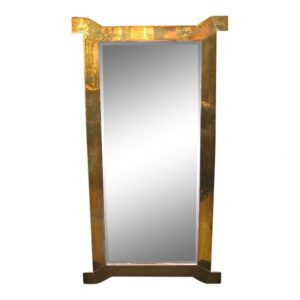 Decorative Mirror in Solid Brass with Dog Leg Corners