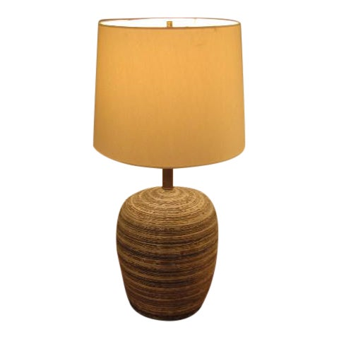 J. Williams Mid-Century Stoneware Table Lamp