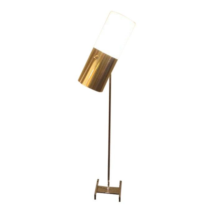 Habitat Chrome and Plastic Articulating Floor Lamp