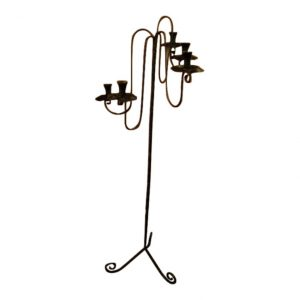 Hand Made Five Foot Wrought Iron Candelabra