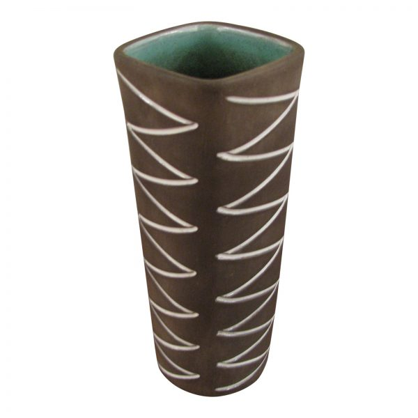 Incised Zig Zag Vase by Helge Osterberg