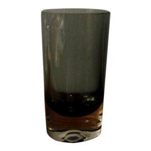 Kaj Franck Smoke Gray Oval Glass Vase