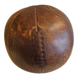 Large Vintage Leather Medicine Ball