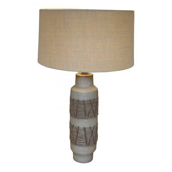 Lee Rosen for Design Technics Textured Ceramic Cylindrical Lamp