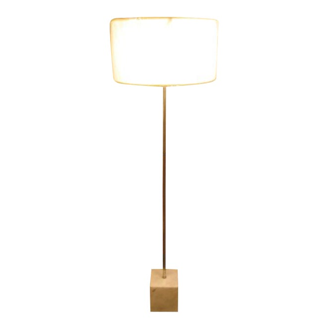 Marble Based Chrome Floor Lamp by Laurel