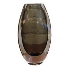 Nils Landberg Swollen Oval Vase for Orrefors Sweden