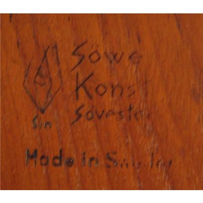 Sowe Konst Carved Solid Teak Tray From Sweden