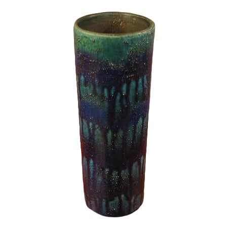 Tall Cylinder Drip Vase by Bitossi