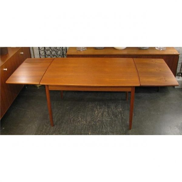 Teak Refractory Extension Table From Denmark
