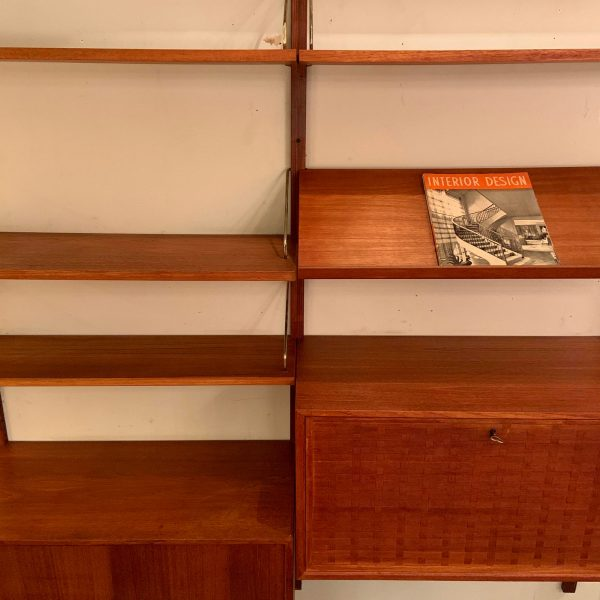 Two Bay Cado Royal Wall System in Teak by Poul Cadovius