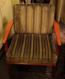 Walnut Framed Club Chair