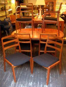 Six Teak Dining Chairs by H.W. Klein Bramin Denmark