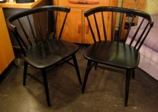 Pair of Lacquered Side Chairs