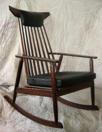 Tall Spindleback Rosewood Rocker