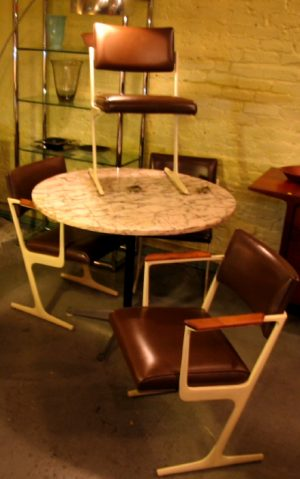 Set of 4 Crucible Cast Metal Chairs