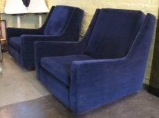 Pair of Blue Lounge Chairs