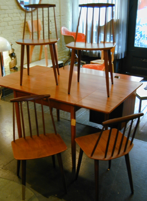 Set of Four Danish Spindleback Chairs