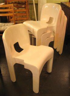 Set of Four Joe Columbo Universale Chairs
