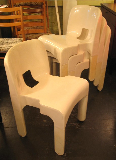 Set of Four Joe Columbo Universale Chairs
