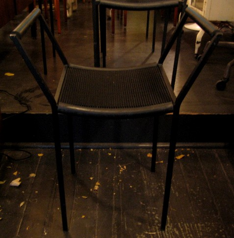 Rubber and Steel Arm Chairs by ZEUS