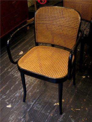 Set of Six Prague Arm Chairs by Josef Hoffman