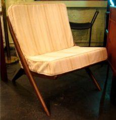 Teak Scissor Chair by Dux