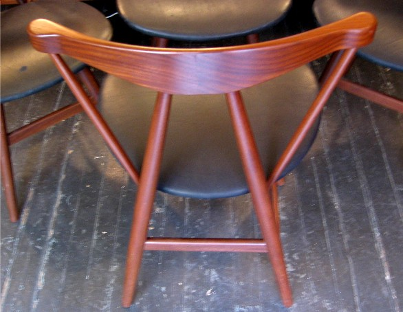 Set of Four Walnut Side Chairs