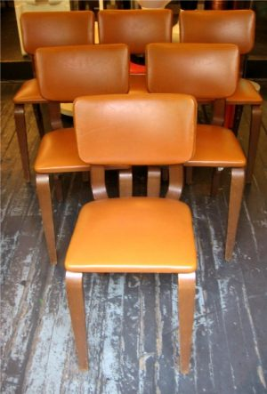 Set of Six Bent Wood Thonet Chairs