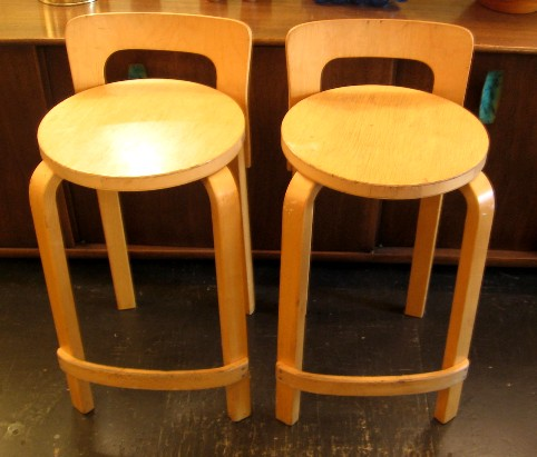 Pair of Stools by Alvar Aalto