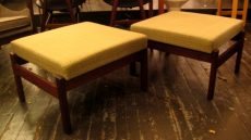 Pair of Teak Ottomans by Pastoe