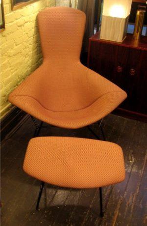 Harry Bertoia Bird Chair and Ottoman for Knoll