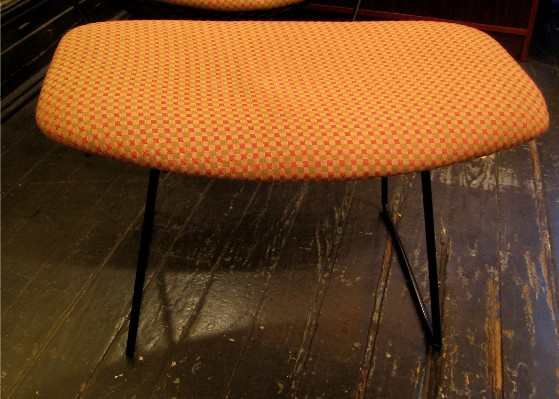 Harry Bertoia Bird Chair and Ottoman for Knoll
