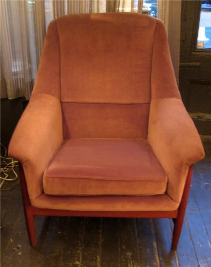 Teak Framed Upholstered Club Chair by Dux