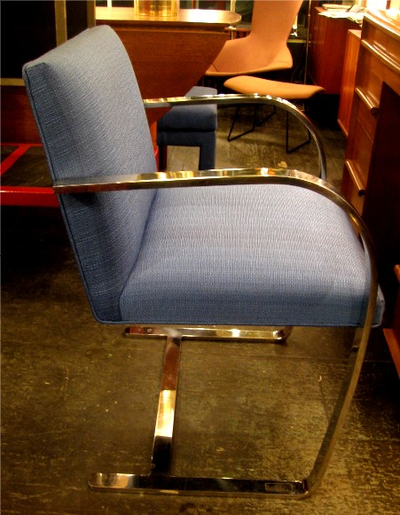 Set of Four Flat Bar Brno Chairs by Knoll