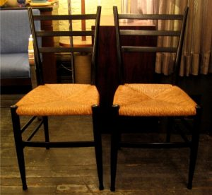 Pair of Italian Ladderback Side Chairs