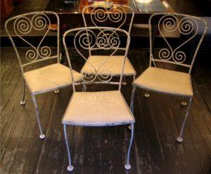 Set of Four Iron Garden Chairs