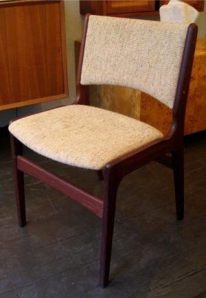 Set of Four 1960s Teak Dining Chairs from Denmark