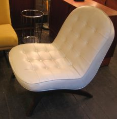 Quilted/Buttoned Slipper Chair attributed to Adrian Pearsall