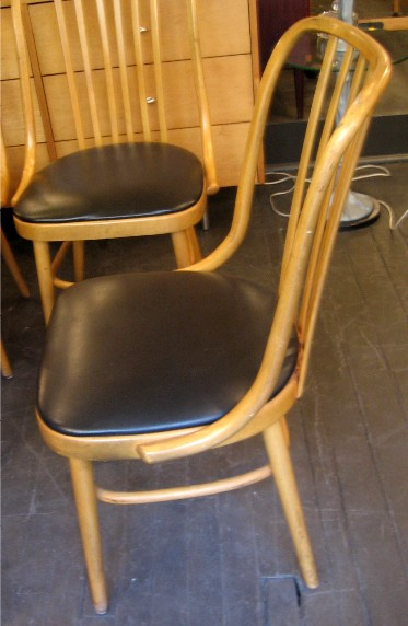 Set of Four 1970s Bentwood Chairs