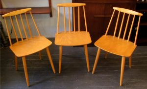 Folke Palsson Spindle Back Side Chairs