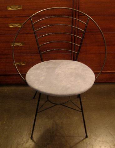 Round Framed Wire Chair