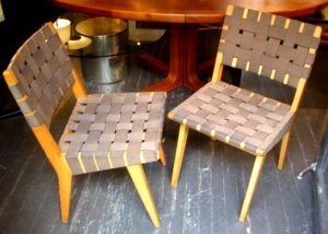 Jens Risom for Knoll Pair of webbed Side Chairs