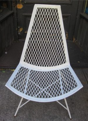 Outdoor Iron Slipper Style Lounge Chair