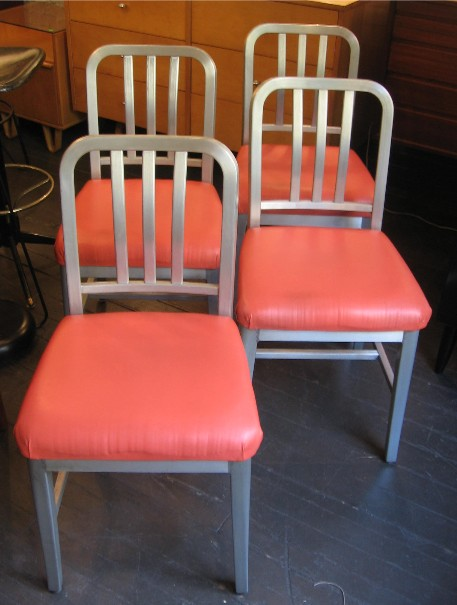 Set of Four Goodform Aluminum Industrial Chairs