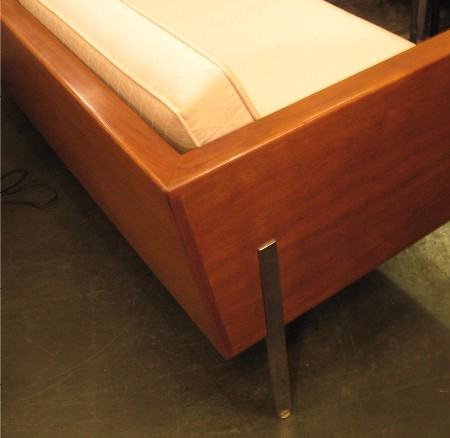 Harvey Probber Walnut Case Settee