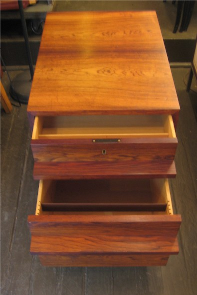 Brazilian Rosewood Two Drawer Pedestal from Denmark