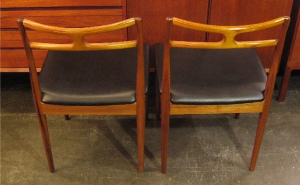 Pair of Walnut and Beech Side Chairs from Denmark