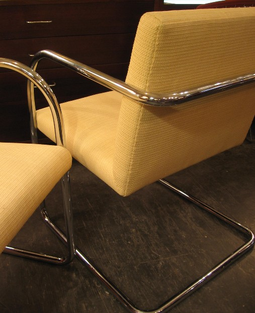Pair of Chrome Bruno Style Chairs