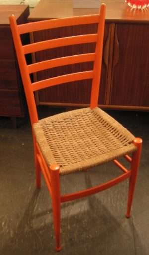 Orange Ladderback Chair from Italy