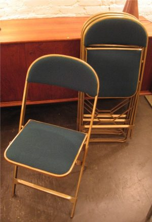 Set of Four Folding Metal Chairs